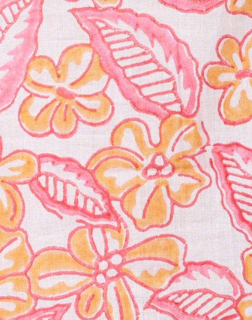 Bella Tu - Orange and Pink Fiona Floral Cotton Shirt