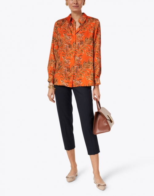 Tara Jarmon - Calie Orange and Green Fern Print Shirt