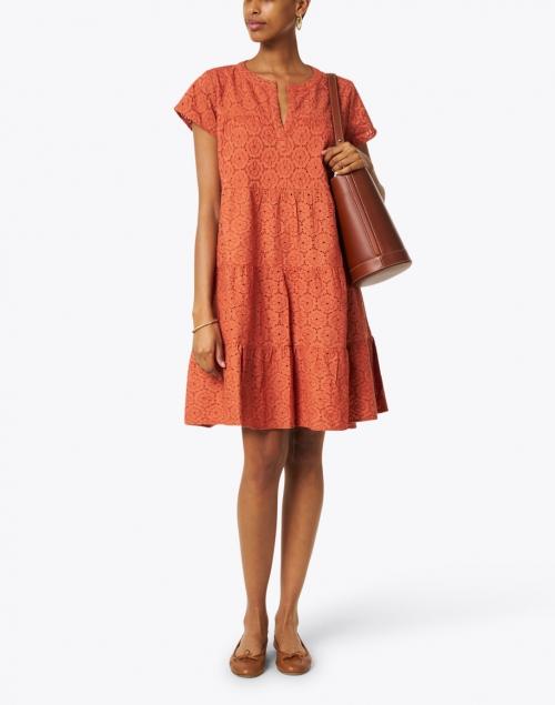 Roller Rabbit - Pamela Terracotta Eyelet Cotton Dress