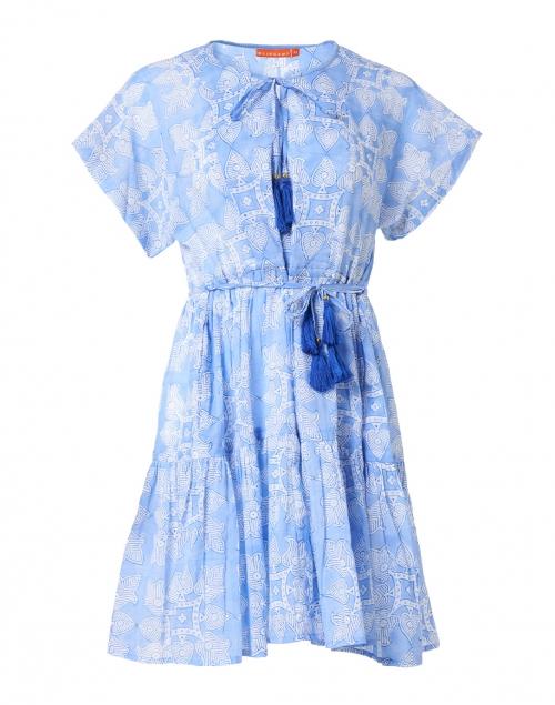 Oliphant - Blue Tigerlily Print Cotton Dress