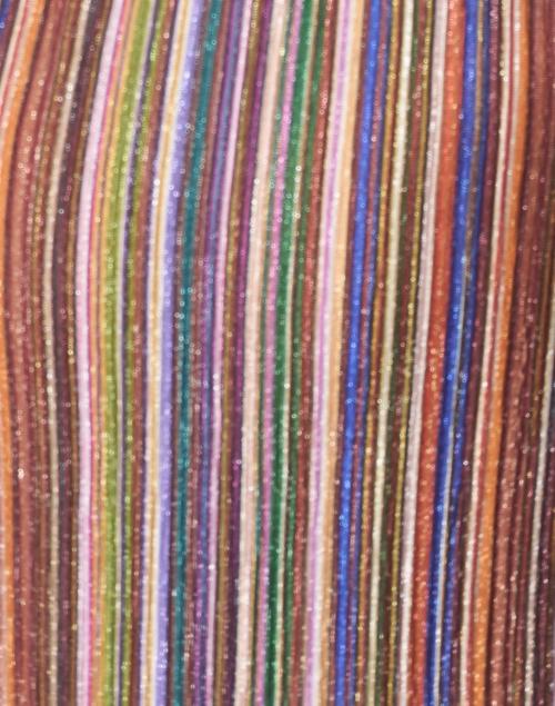 Vilagallo - Patricia Metallic Multicolor Striped Lurex Shirt Dress