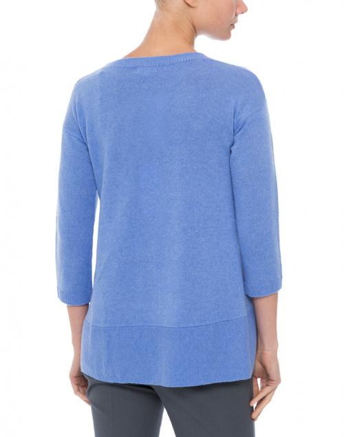 Cortland Park - Saint Tropez French Blue Cashmere Swing Sweater