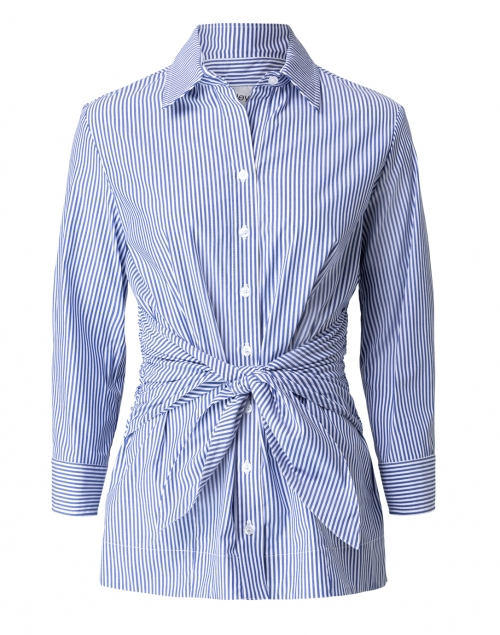 Finley - Ellis Blue and White Striped Tie Front Tunic