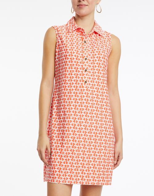 Jude Connally - Suzy Orange Chain Link Printed Dress