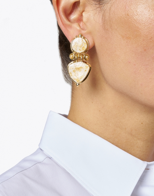 Gas Bijoux - Colorado Gold Drop Clip Earring