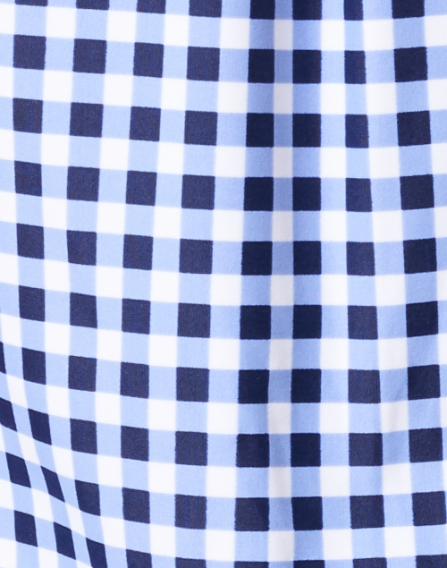 Jude Connally - Kim Navy Gingham Button Down Stretch Top