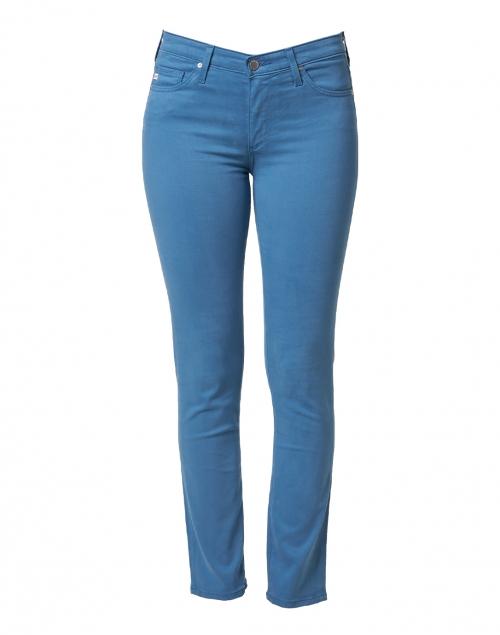 AG Jeans Prima Laguna Blue Stretch Sateen Cigarette Jean