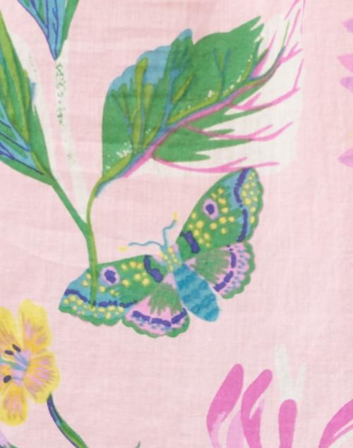 Banjanan - Ebisu Pink Floral Cotton Voile Blouse