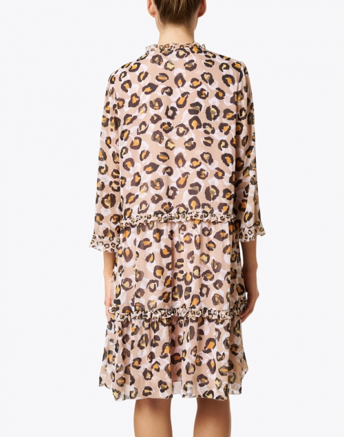 Marc Cain - Beige Leopard Printed Chiffon Dress