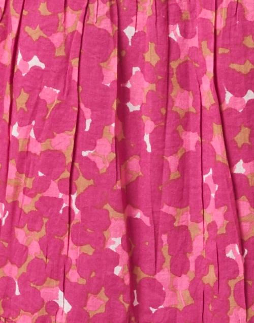 Banjanan - Bernice Pink and Camel Animal Printed Cotton Voile Dress