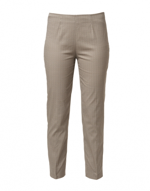 Piazza Sempione - Monia Beige and Black Houndstooth Stretch Pant