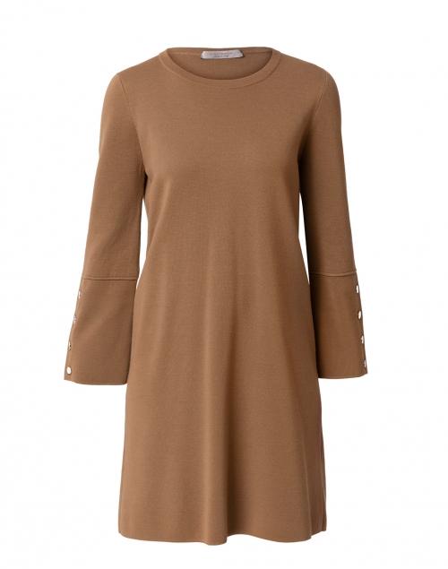 D.Exterior - Camel Knit Shift Dress