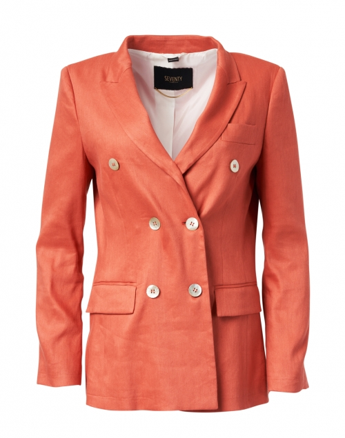 Seventy Coral Stretch Linen Blazer