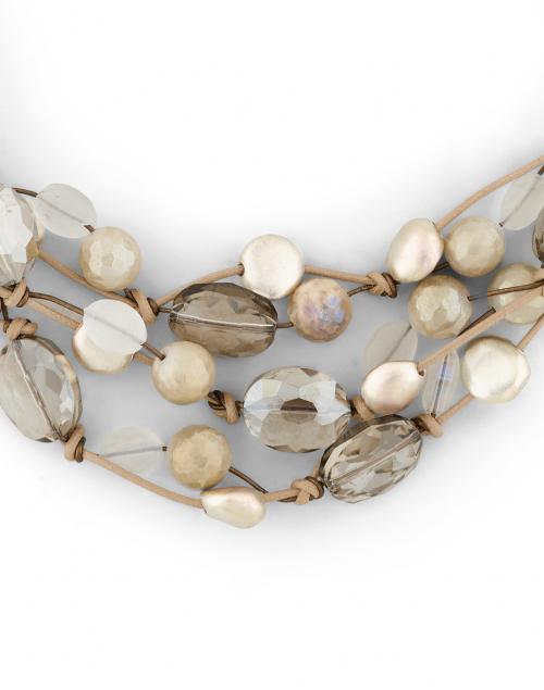 Deborah Grivas - Light Topaz and Silver Bead Necklace