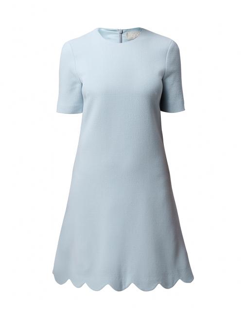 Goat Jolie Frost Blue Scallop Hem Dress