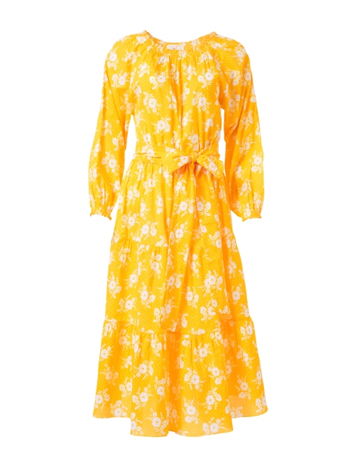 Soler - Andrea Yellow and White Floral Print Cotton Dress