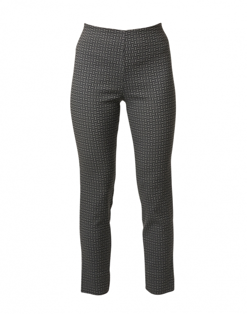 Equestrian Milo Black and Grey Check Pull-On Pant