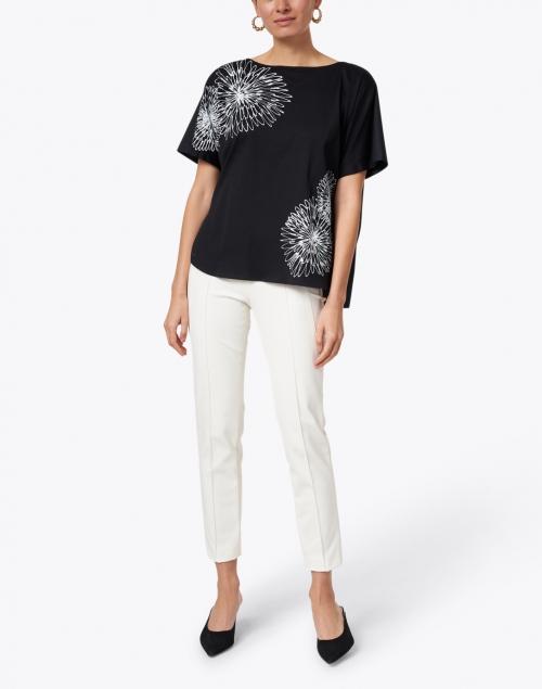 Piazza Sempione - Black and White Floral Cotton Top