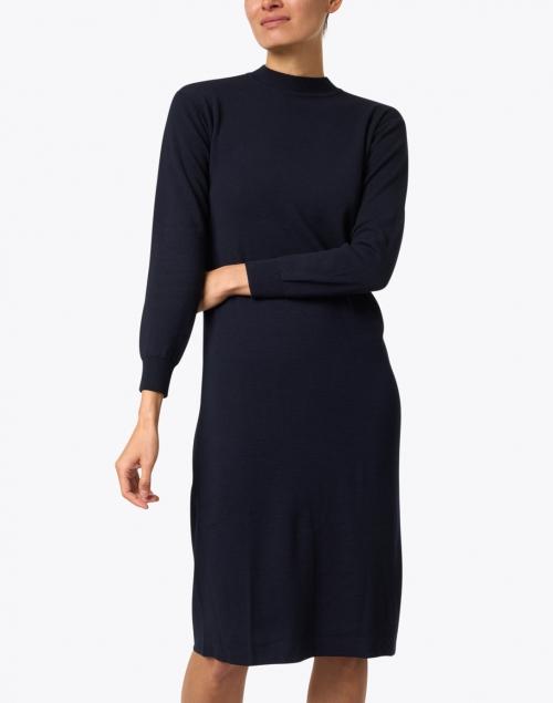Weekend Max Mara - Bonbon Navy Wool Blend Dress