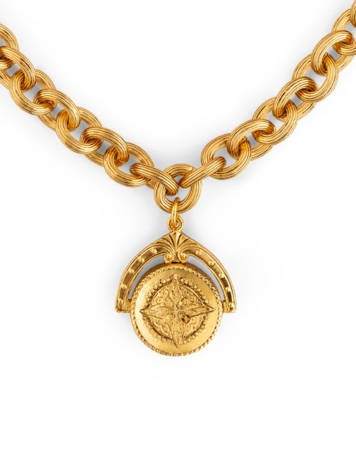 Jennifer Behr - Westerly Gold Coin Chain Necklace