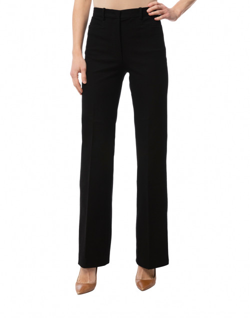 Joseph - Road Black Gabardine Stretch Wide Leg Trouser
