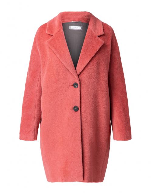 Peserico Coral Pink Suri Alpaca Wool Coat