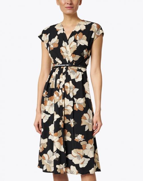 Max Mara Studio - Cordoba Black and Beige Floral Print Dress