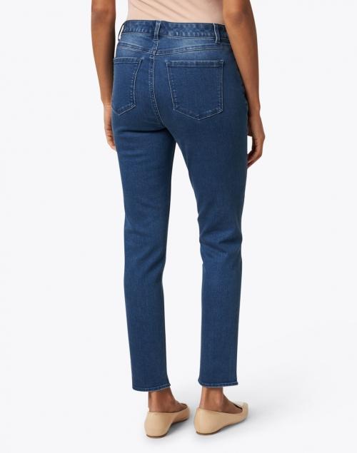 Ecru - Abbot Blue Vintage Wash Stretch Cotton Jean