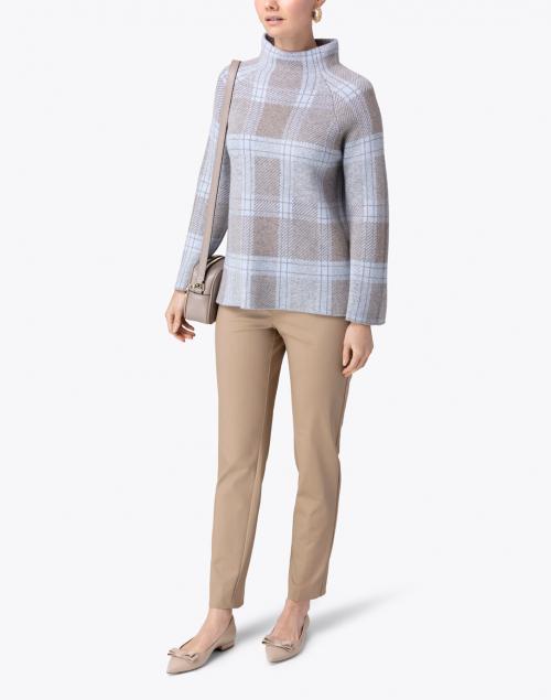 Kinross - Blue Plaid Cashmere Sweater