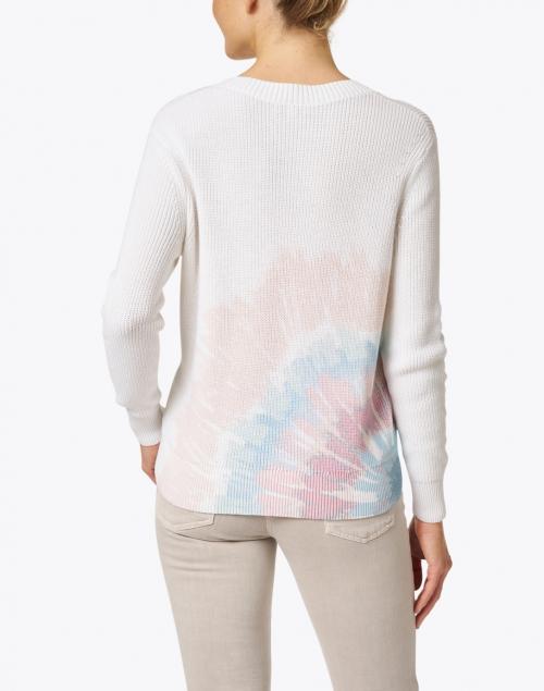 Kinross - White Sunburst Tie Dye Cotton Sweater