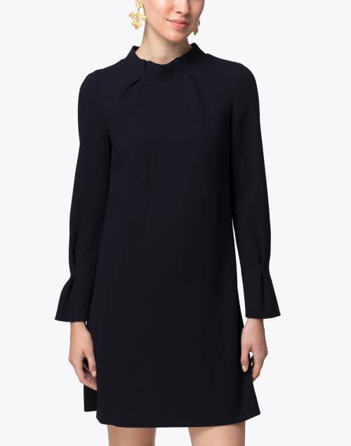 Goat - Elodie Navy Crepe Wool Tunic Dress