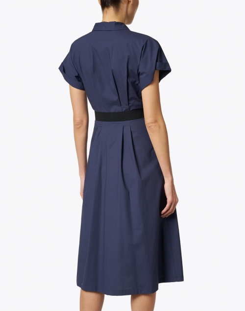 Seventy - Navy Stretch Cotton Shirt Dress