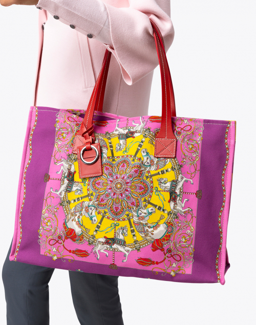 Rani Arabella - Pink Toy Horses Tote Bag