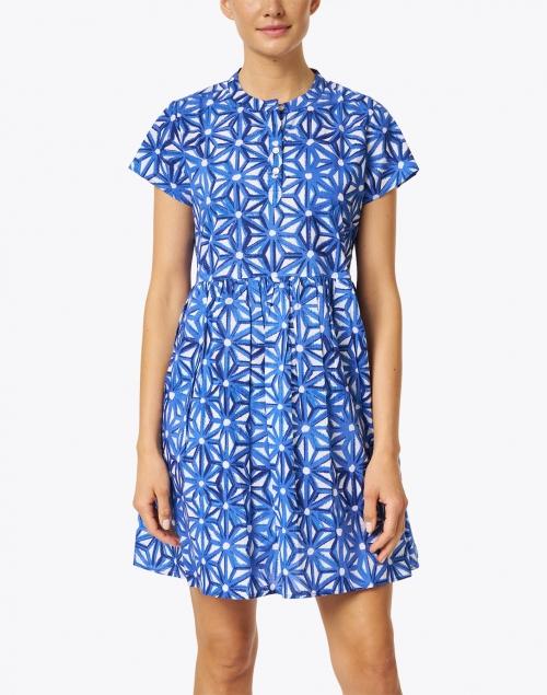 Ro's Garden - Feloi Blue Floral Printed Cotton Dress