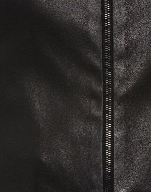 Susan Bender - Black Stretch Leather Cropped Jacket