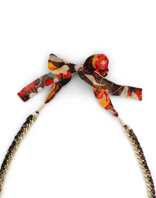 Megan Park - Curb Floral Printed Chain Necklace