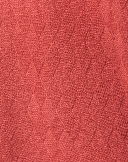 Repeat Cashmere - Spice Red Cable Cashmere Cardigan