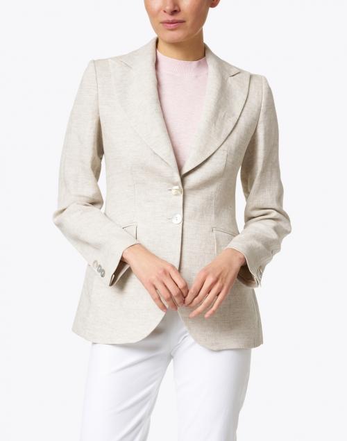 T.ba - Stone Linen Swing Jacket