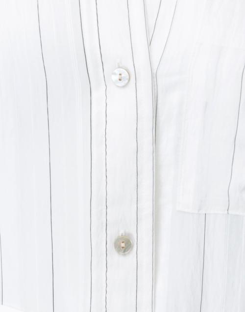 Vince - White Striped Shirt Dress