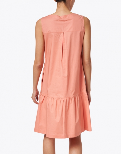 Rosso35 - Coral Stretch Cotton Tiered Dress