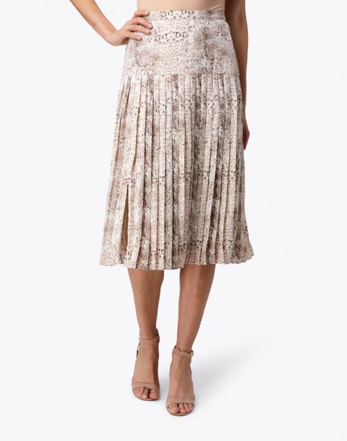 Brochu Walker - Rovena Animal Print Pleated Midi Skirt