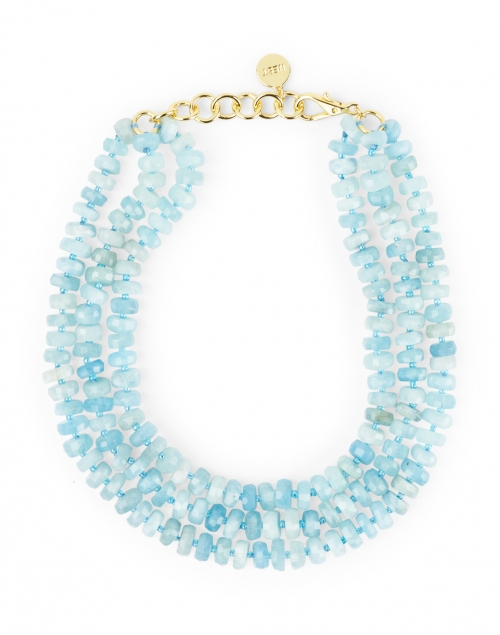 Nest Aquamarine Bead Multi Strand Necklace