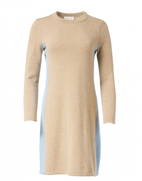 Sail to Sable - Camel Merino and Cotton Sweater Dress
