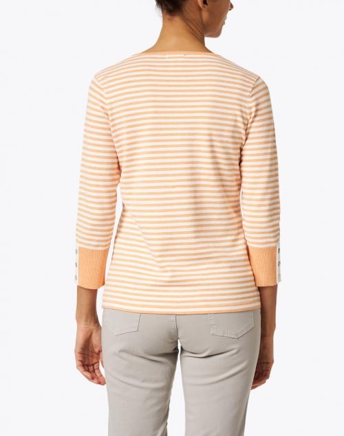 J'Envie - Melon Heather and White Stripe Stretch Top