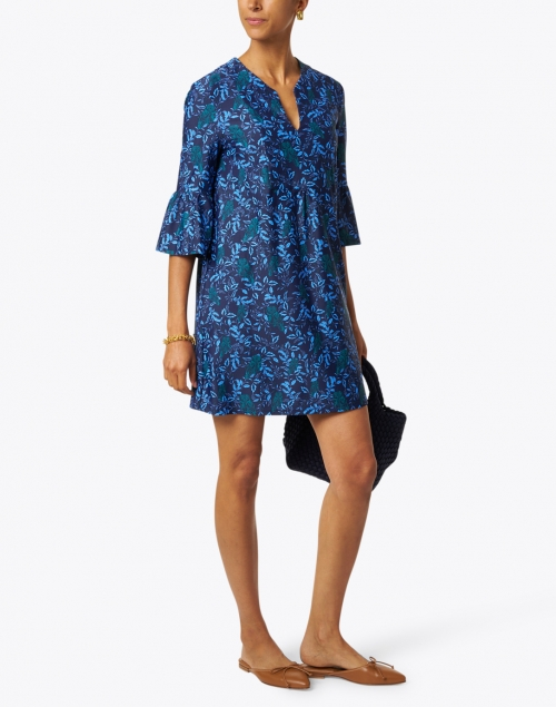 Jude Connally - Kerry Jade and Navy Floral Print Dress