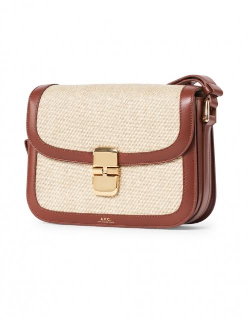 A.P.C. - Grace Cognac Canvas and Leather Crossbody Bag