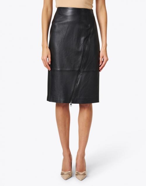 BOSS Hugo Boss - Black Leather Pencil Skirt