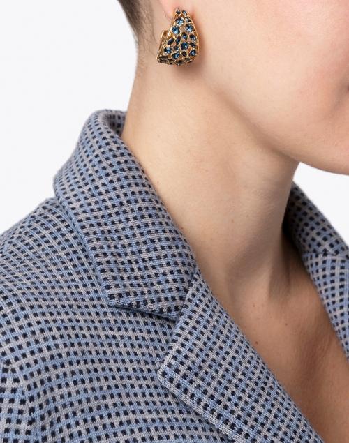 Mignonne Gavigan - Kaya Sapphire Crystal Huggie Hoop Earrings