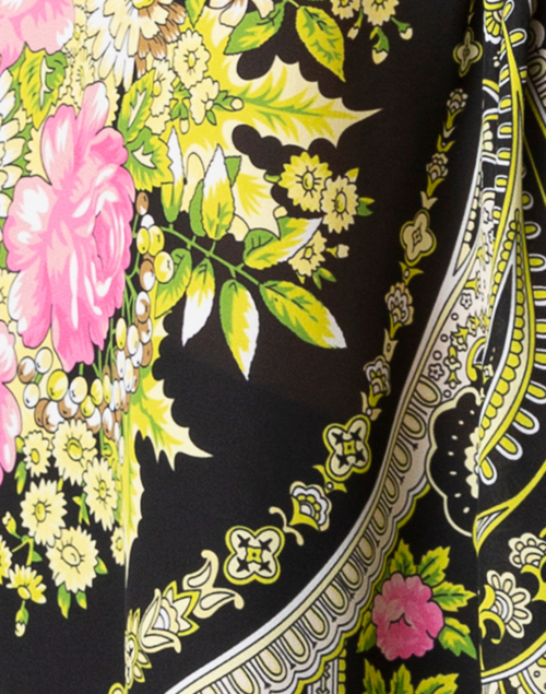Kobi Halperin - Lorine Black Printed Silk Blouse
