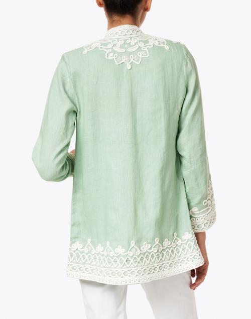 Bella Tu - Ceci Mint Embroidered Linen Jacket